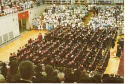 Class of 1985 graduation ceremony in the Berry Bowl